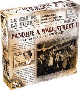 Jeu sur la bourse panique à Wall Street
